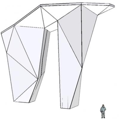 Kletterturm Modell